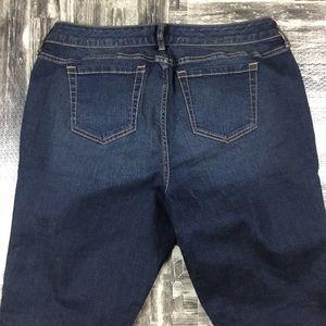 torrid Jeans - Torrid Cropped Jeans Plus Size 14 Dark Blue